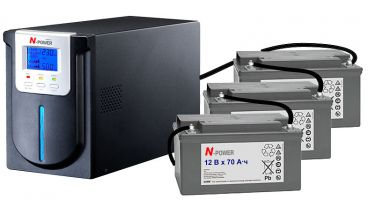 Mega-Vision 1000 LT (1 кВА) для коттеджных систем отопления сбольшим временем автономной работы