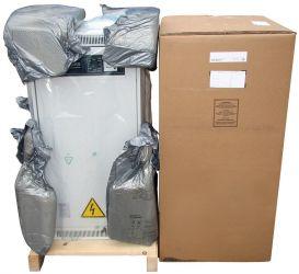 Упаковка стабилизатора: жесткое крепление кдеревянному поддону, полиэтиленовая пленка, прокладки изпористого материала, картонная коробка