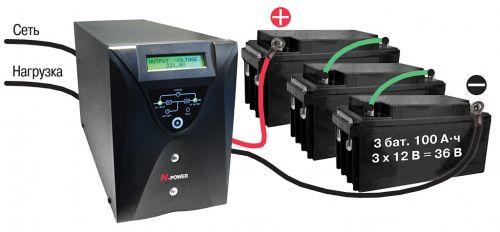 Pro-Vision Black 1 KVA LT свнешними аккумуляторными батареями